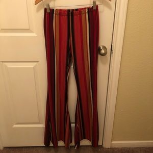 Medium Red Flare Pants from Forever 21